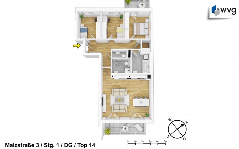 Malzstraße 3 / Stg. 1 / Top 14