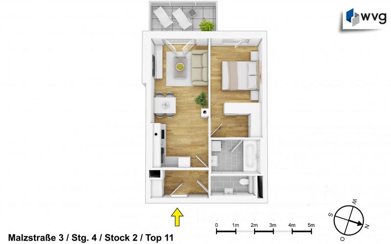 Malzstraße 3 / Stg. 4 / Top 11