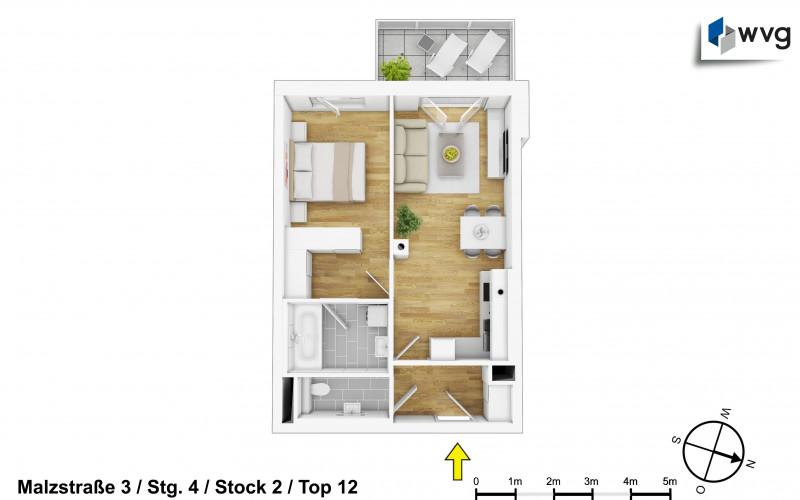 Malzstraße 3 / Stg. 4 / Top 12