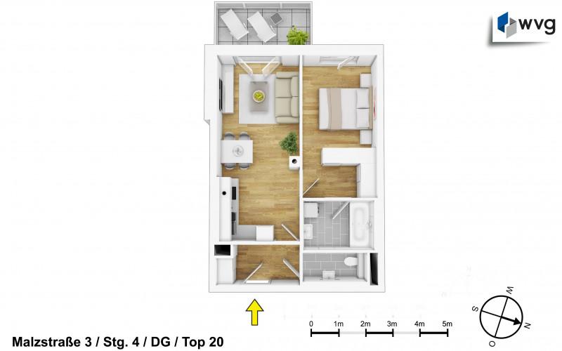 Malzstraße 3 / Stg. 4 / Top 20