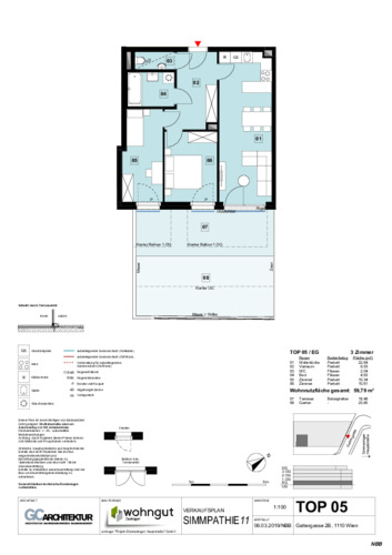 1_Verkaufsplan der Wohnung TOP 05_NBB