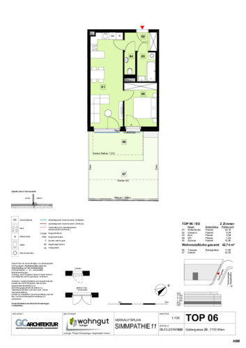 1_Verkaufsplan der Wohnung TOP 06_NBB