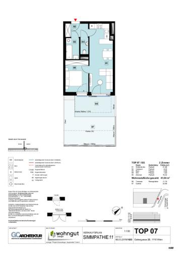 1_Verkaufsplan der Wohnung TOP 07
