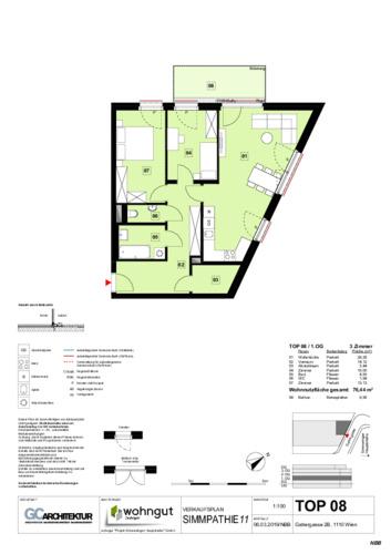 1_Verkaufsplan der Wohnung TOP 08_NBB