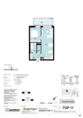 1_Verkaufsplan der Wohnung TOP 11_NBB