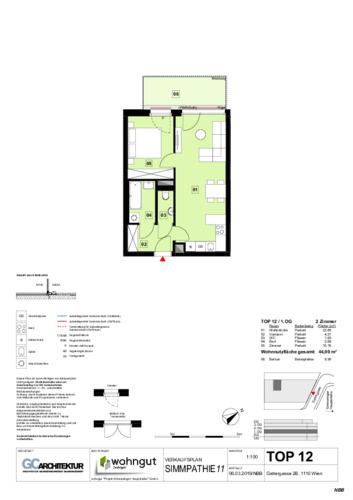 1_Verkaufsplan der Wohnung TOP 12_NBB