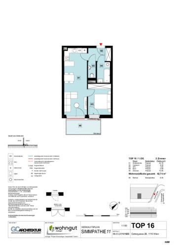 1_Verkaufsplan der Wohnung TOP 16_NBB