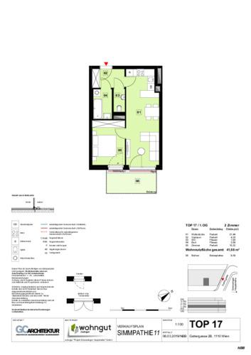 1_Verkaufsplan der Wohnung TOP 17_NBB