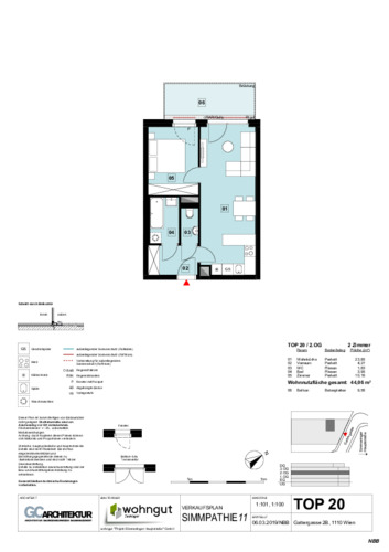 1_Verkaufsplan der Wohnung TOP 20_NBB