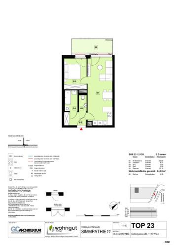 1_Verkaufsplan der Wohnung TOP 23_NBB