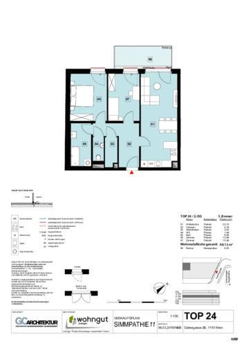 1_Verkaufsplan der Wohnung TOP 24_NBB
