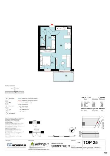 1_Verkaufsplan der Wohnung TOP 25_NBB