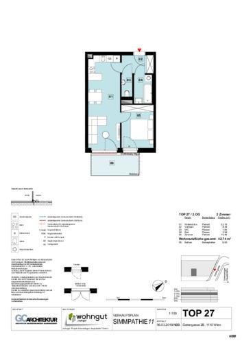 1_Verkaufsplan der Wohnung TOP 27
