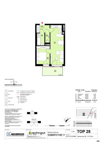 1_Verkaufsplan der Wohnung TOP 28_NBB