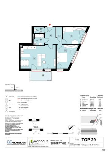 1_Verkaufsplan der Wohnung TOP 29_NBB