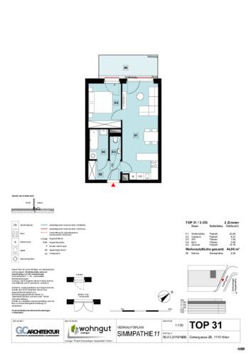 1_Verkaufsplan der Wohnung TOP 31_NBB