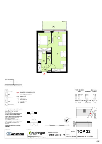 1_Verkaufsplan der Wohnung TOP 32_NBB