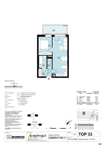 1_Verkaufsplan der Wohnung TOP 33_NBB