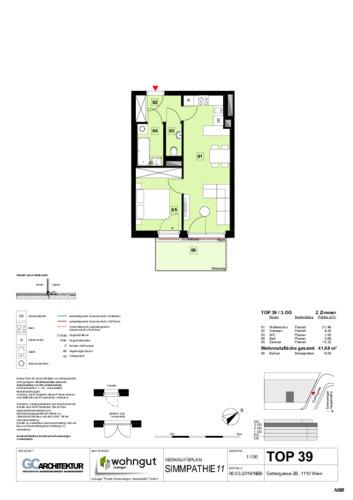 1_Verkaufsplan der Wohnung TOP 39_NBB