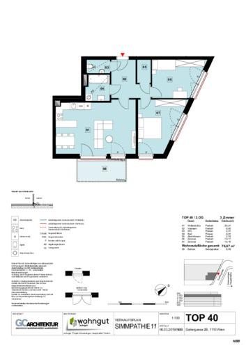 1_Verkaufsplan der Wohnung TOP 40_NBB