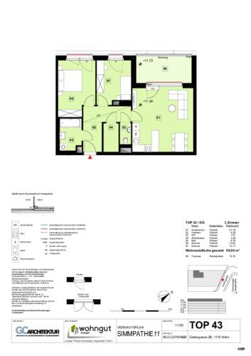 1_Verkaufsplan der Wohnung TOP 43_NBB