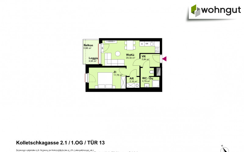 Kolletschkagasse 2 / Stiege 1 / Tür 13
