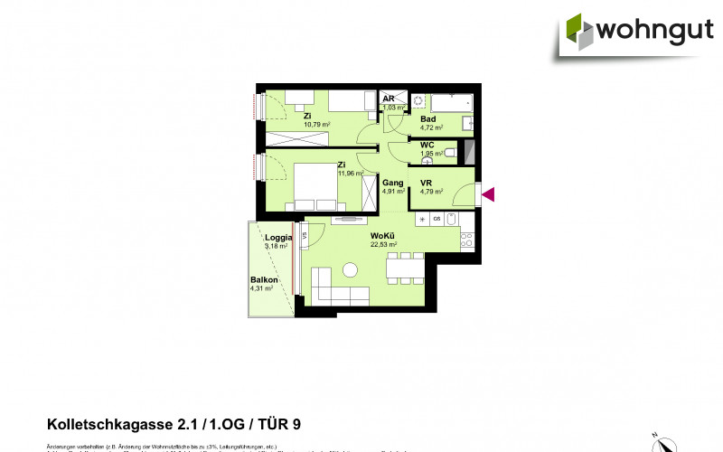 Kolletschkagasse 2 / Stiege 1 / Tür 9