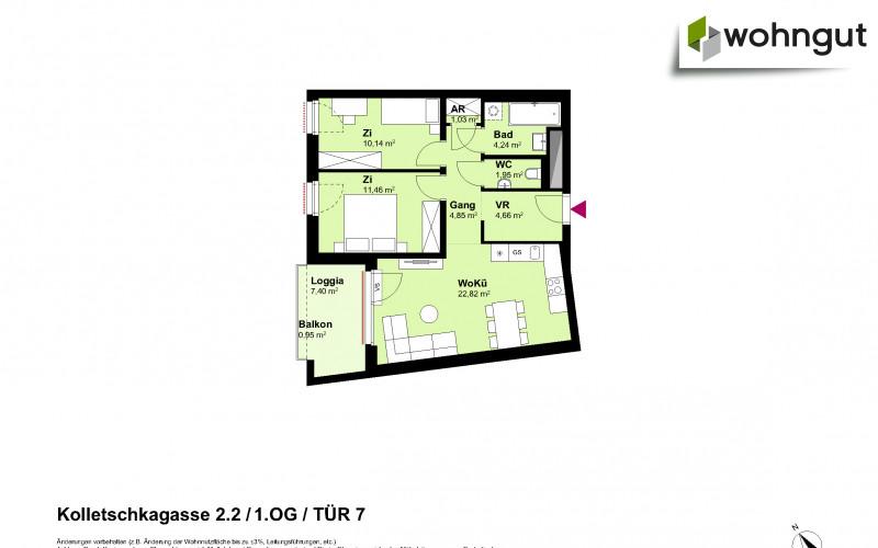 Kolletschkagasse 2 / Stiege 2 / Tür 7