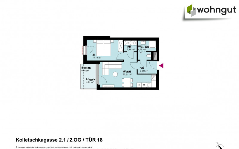 Kolletschkagasse 2 / Stiege 1 / Tür 18