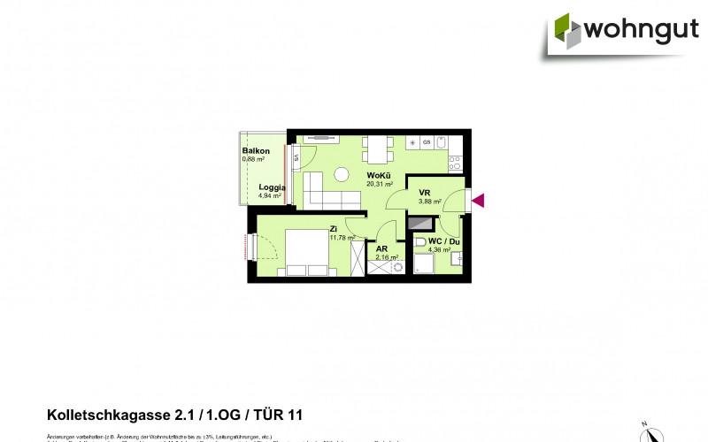 Kolletschkagasse 2 / Stiege 1 / Tür 11