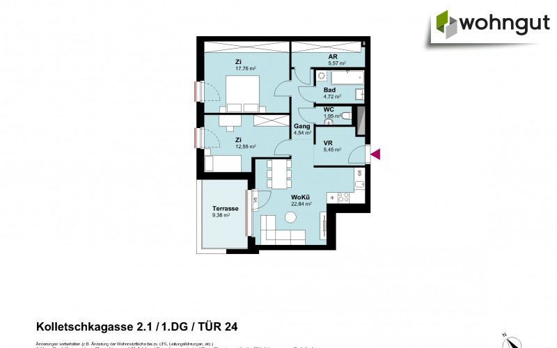 Kolletschkagasse 2 / Stiege 1 / Tür 24
