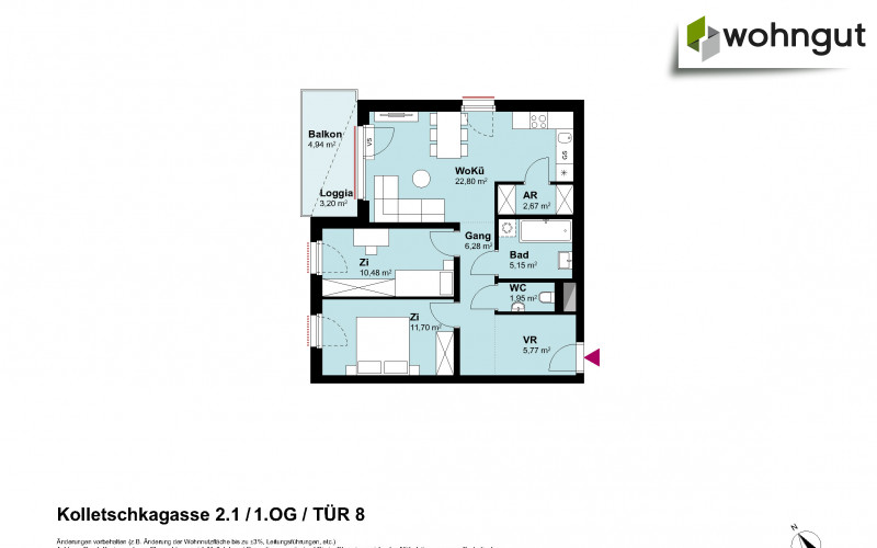 Kolletschkagasse 2 / Stiege 1 / Tür 8