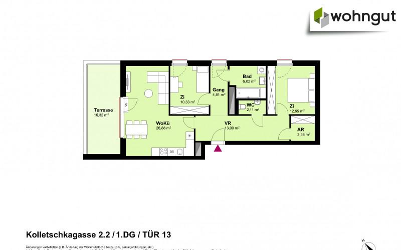 Kolletschkagasse 2 / Stiege 2 / Tür 13