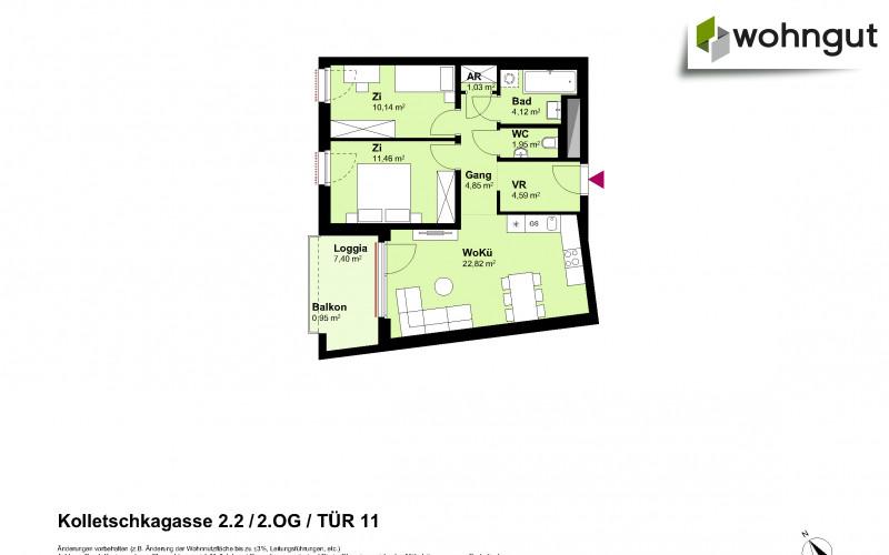 Kolletschkagasse 2 / Stiege 2 / Tür 11