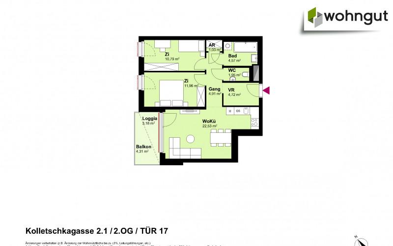 Kolletschkagasse 2 / Stiege 1 / Tür 17