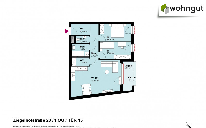 Ziegelhofstrasse 28 / Tür 15