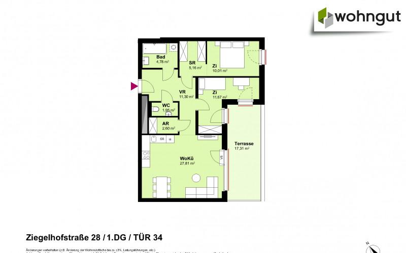 Ziegelhofstrasse 28 / Tür 34