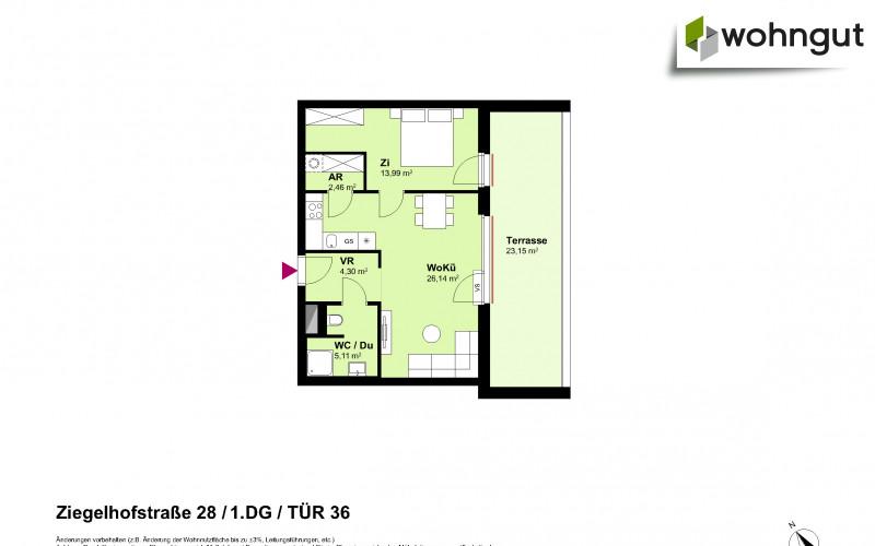 Ziegelhofstrasse 28 / Tür 36