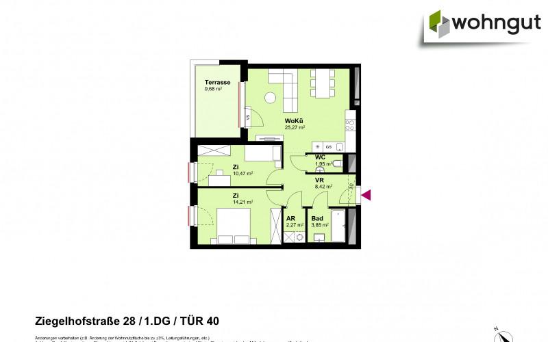 Ziegelhofstrasse 28 / Tür 40