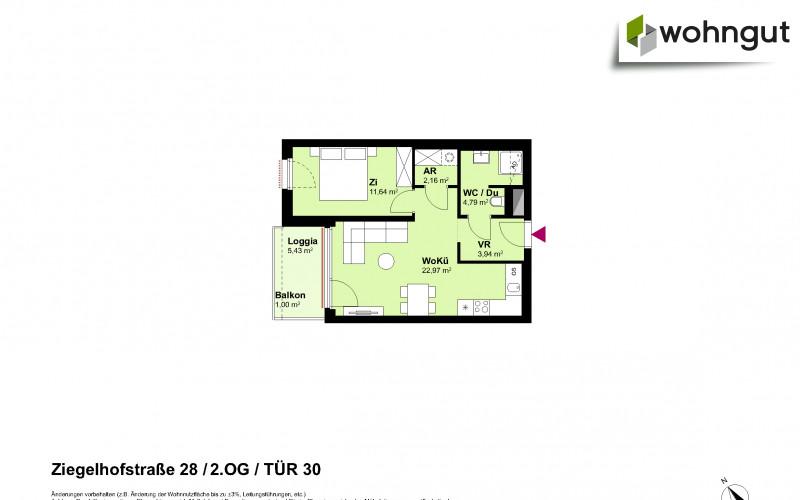 Ziegelhofstrasse 28 / Tür 30