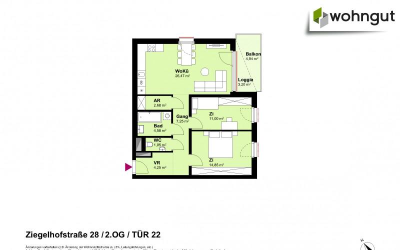 Ziegelhofstrasse 28 / Tür 22