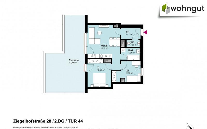 Ziegelhofstrasse 28 / Tür 44