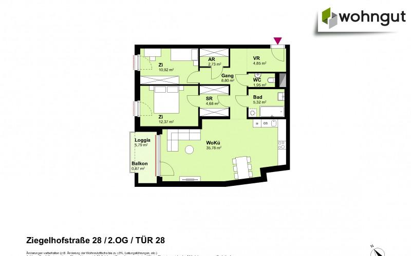 Ziegelhofstrasse 28 / Tür 28