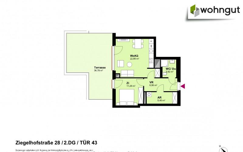 Ziegelhofstrasse 28 / Tür 43