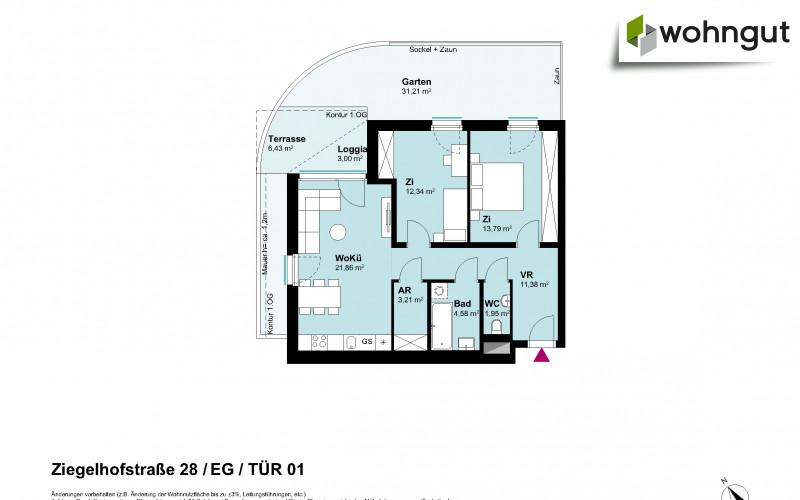 Ziegelhofstrasse 28 / Tür 1